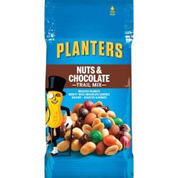 Planters Nut/Chocolate Trail Mix - Chocolate, Nutty - 2 oz - 72 / Carton