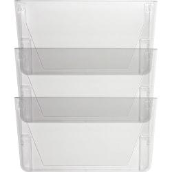 Sparco Stak-A-File Vertical Filing Systems - 14.5in. Height x 13.1in. Width x 4.3in. Depth - Wall Mountable - Clear - 3 / Pack