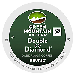 Green Mountain Coffee(R) Double Black Diamond Extra Bold Coffee K-Cups(R), Box Of 96