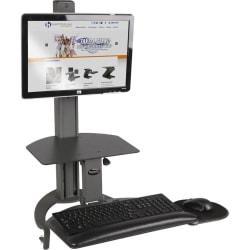 HealthPostures TaskMate Desktop Computer Standing Desk, Black