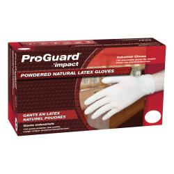 ProGuard Disposable Latex Powdered Gloves - Small Size - Latex - Natural - Powdered, Disposable, Ambidextrous, Rolled Cuff, Beaded Cuff - For Assembling, Cleani
