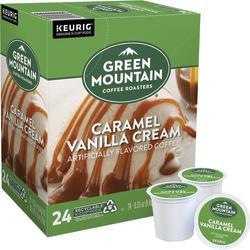Green Mountain(R) Pods Caramel Vanilla Cream Coffee K-Cup(R) Pods, 0.4 Oz, Box Of 96