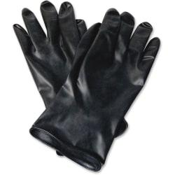 NORTH Butyl Chemical Protection Gloves - Chemical Protection - 10 Size Number - Butyl - Black - Water Resistant, Durable, Chemical Resistant, Ketone Resistant,