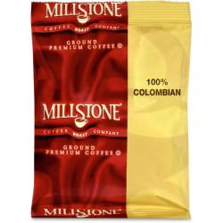 Folgers Millstone Ground Premium Coffee - Caffeinated - Colombian, Arabica Bean - 1.8 oz Per Carton - 42 - 42 / Carton