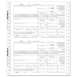 ComplyRight(TM) 1099-R Continuous Tax Forms, Copies A, State, B, C, 2 And D, 6-Part, 9in. x 11in., Pack Of 100 Forms