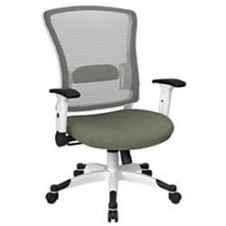 Office Star(TM) Space Seating Mesh Mid-Back Chair, Sage/White