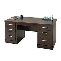 Sauder(R) Office Port Executive Desk, Dark Alder