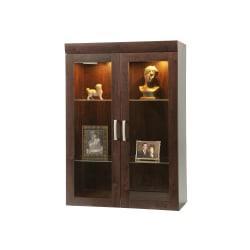 Sauder(R) Office Port Collection, Display Hutch, Dark Alder
