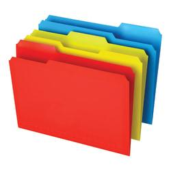 Office Depot(R) Brand Poly File Folders, Letter Size, 1/3 Cut, Assorted Colors, Pack Of 12