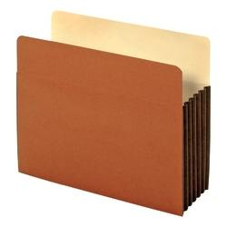 Globe-Weis(R) Watershed(R) Premium Reinforced File Pockets, 5 1/4in. Expansion, Letter Size, Brown, Box Of 10