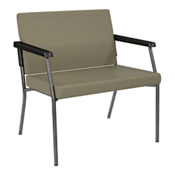 Office Star(R) Worksmart(R) 29in. Bariatric Big Tall Guest Chair, Sage/Gunmetal Gray