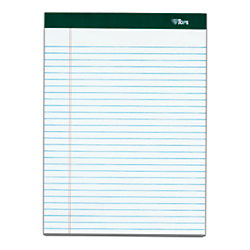 TOPS(TM) Double Docket(TM) Writing Pads, 8 1/2in. x 11in., Narrow Ruled, 100 Sheets, White, Pack Of 4 Pads