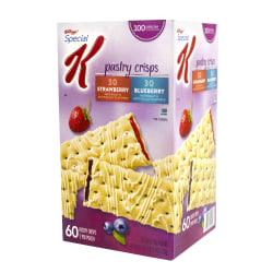 Special K Pastry Crisps, Blueberry And Strawberry, Box Of 60