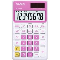 Casio SL-300VC- PK Pink/ White 8 Digit Calculator