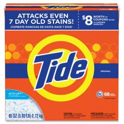 Tide Powder Laundry Detergent - Concentrate Powder - 95 oz (5.94 lb) - Original Scent - 3 / Carton - Orange