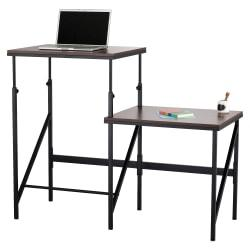 Safco Bi-Level Stand/Sit Desk - Rectangle Top - 57.50in. Table Top Width x 24in. Table Top Depth x 0.75in. Table Top Thickness - 50in. Height - Assembly Require