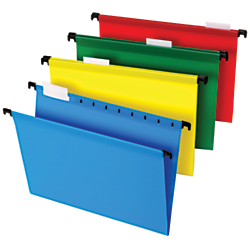 Office Depot(R) Brand Hanging File Folders, 8 1/2in. x 11in., Letter Size, Assorted Colors, Box Of 20 Folders
