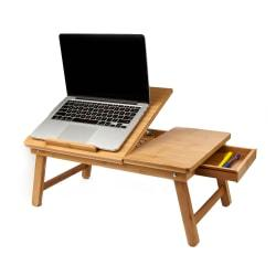 Mind Reader Bamboo Laptop Bed Tray, 9in.H x 21in.W x 13.5in.D, Brown, BEDTRAYBMBRN