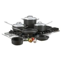 Cuisinart(R) Chef's Classic(TM) Quantantanium(R) Nonstick Hard Anodized 10-Piece Cookware Set With Tempered Glass Covers, Black