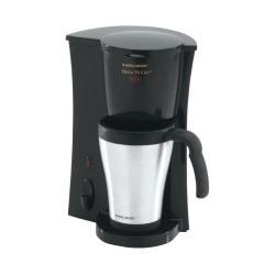 Black Decker Brew 'n Go Personal Coffeemaker With Travel Mug, Black/Stainless Steel, DCM18S