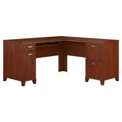 Bush Furniture Tuxedo L Shaped Desk, Hansen Cherry, Standard Delivery