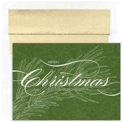 Great Papers! Holiday Greeting Cards With Envelopes, 5 5/8in. x 7 7/8in, Christmas Greens, Pack Of 16
