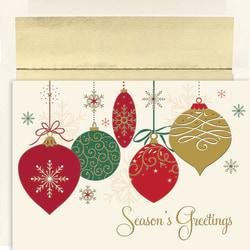 Great Papers! Holiday Greeting Cards With Envelopes, 7 7/8in. x 5 5/8in, Christmas Ornaments, Pack Of 16