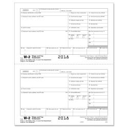 ComplyRight(TM) W-2 Inkjet/Laser Tax Forms, Employer Copy D, 2-Up, 8 1/2in. x 11in., Pack Of 2,000 Forms