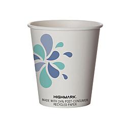 Highmark(R) Breakroom Hot Cups, 10 Oz, White/Blue/Black, Pack Of 500
