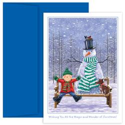 Great Papers Holiday Greeting Cards With Envelopes 5 58in X 7 78in The Magic And Wonder Of Christmas Pack Of 18 image