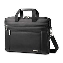 Samsonite(R) Classic Laptop Computer Slim Briefcase, 12in. x 16in. x 2in., Black