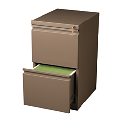 WorkPro(R) 20in.D 2-Drawer Vertical Mobile Pedestal File Cabinet, Medium Tone