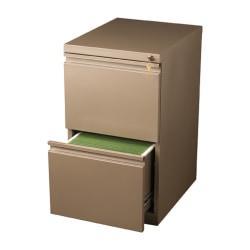 WorkPro(R) 20in.D 2-Drawer Vertical Mobile Pedestal File Cabinet, Metallic Bronze