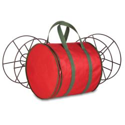 Honey-Can-Do Holiday Light String Storage Reels And Bag, 12in.H x 12in.W x 12in.D, Red/Green