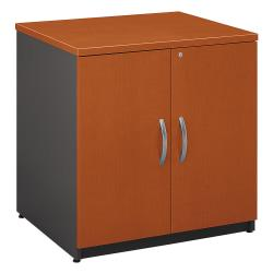 Bush Business Furniture Components Storage Cabinet, 30in.W, Auburn Maple/Graphite Gray, Premium Installation