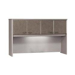 Bush Business Furniture Office Advantage Hutch 60in.W, Pewter/Pewter, Standard Delivery