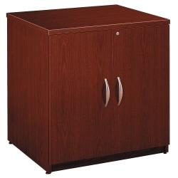 Bush Business Furniture Components Storage Cabinet, 30in.W, Mahogany, Premium Installation