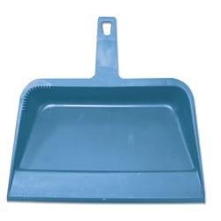 Impact Heavy-Duty Plastic Dust Pan, 12in.W x 12in.D x 4in.H, Blue