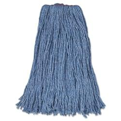 Rubbermaid(R) Commercial Cotton/Synthetic Cut-End Mop Heads, 24 Oz, 1in. Band, Carton Of 12 Mop Heads