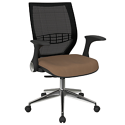 Office Star(TM) Pro-Line II ProGrid Fabric High-Back Chair, Taupe/Black/Silver