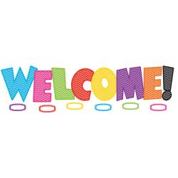 Teacher Created Resources Chevron Welcome Bulletin Board Set, Multicolor, Pre-K - Grade 5