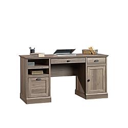 Sauder(R) Barrister Lane Executive Desk, Salt Oak