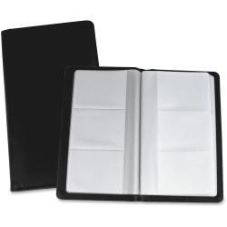 Lorell(R) Vinyl Business Card Storage Holder, 7in.L, Black