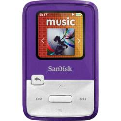 SanDisk Sansa Clip Zip SDMX22-004G-A57P 4 GB Flash MP3 Player - Purple