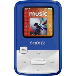 SanDisk Sansa Clip Zip SDMX22-004G-A57B 4 GB Flash MP3 Player - Blue