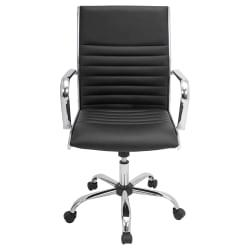 Lumisource Master Leatherette Office Chair, Black/Chrome
