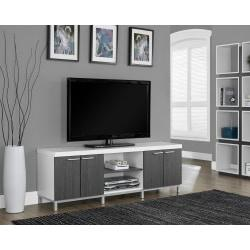 Monarch Specialties Two Tone TV Stand For TVs Up To 60in., Gray/White