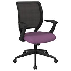 Office Star (TM) Work Smart Mesh Task Chair, Fabric Purple/Black