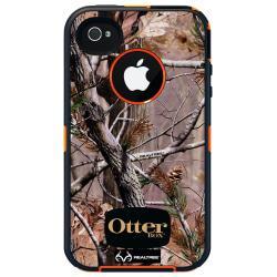OtterBox Defender Realtree Series Case For iPhone(R) 4/4s, AP Camo Pattern/Blaze Orange