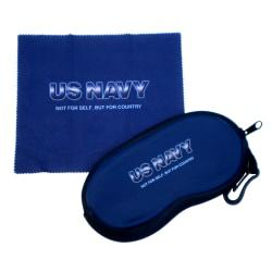 Integrity Eye Glass Case And Wipe Cloth, Navy, Pack Of 6